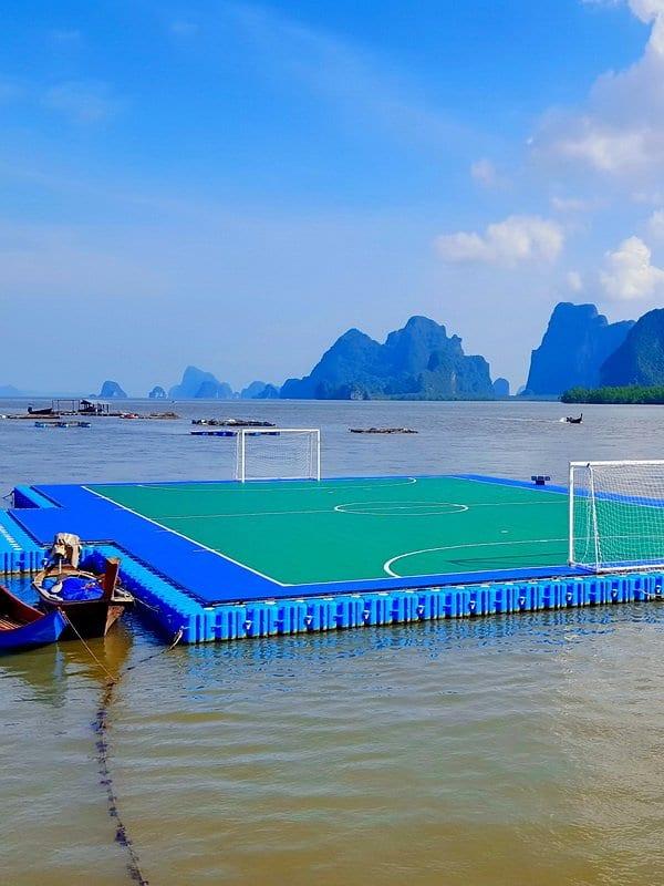 Panyi FC floating football pitch