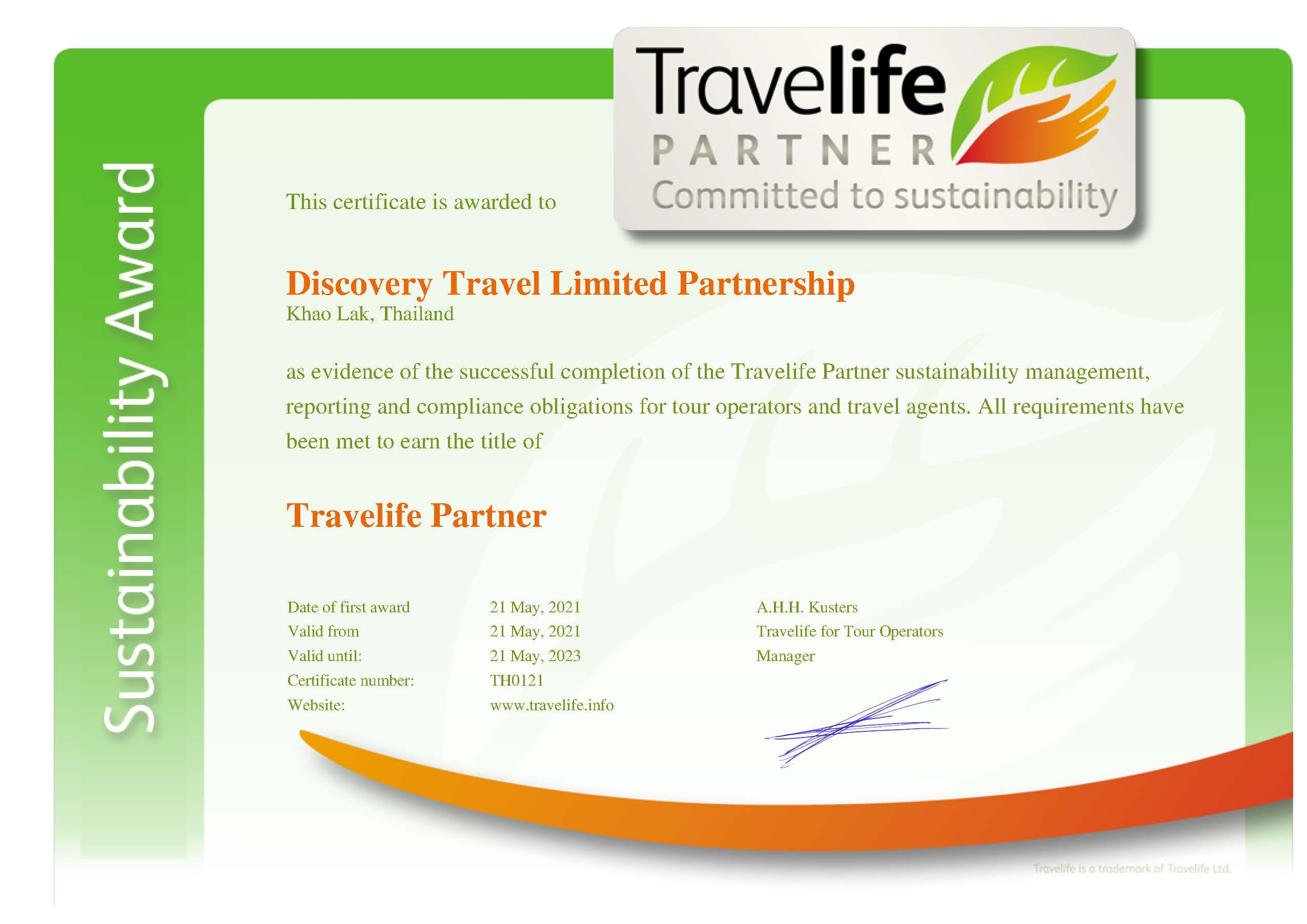 Travelife Partner Certification